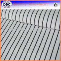 Woven stripe cvc polyester cotton shirting fabric