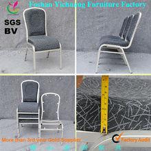 Comfortable Blue Waterfall Cushion Aluminum frame Banquet Hall Chair