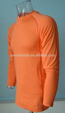 75% nylon 21%bamboo 4% spandex 260gsm Blank Anti UV Moisture wicking wholesale fitness clothing