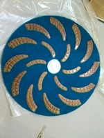 "17"" stone polishing pads Diamond flexible floor polishing pads"