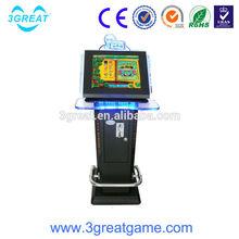 Crazy children play touch screen video games machine