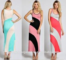 cheap dresses online European size Long maxi dress chevron scoop back coloblock zigzag drape graphi cutout boho gypsy maxi dress