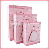 3D love bridal veil wedding dress paper bag
