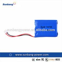 SunB103759 rechargeable li ion battery pack 7.4v 1200mah li-ion battery pack