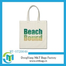 European Market organic cotton canvas tote bag