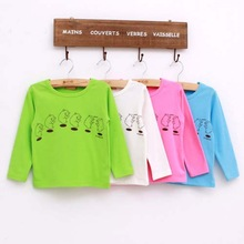 Tat2002 2014 Korean cute bear printed cotton children's cheap price t-shirt