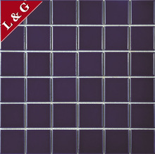 MC6105 fine and smooth pure color dark blue ceramic mosaic tiles