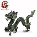 estátua de bronze animal escultura do dragão