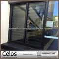 Built- cam dış dekoratif alüminyum pencere kepenkleri