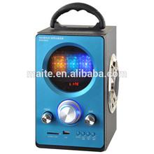 Mini Speaker Digital Portable Music MP3/4 Player Micro SD/TF USB Disk Speaker FM Radio LCD Display(J-25)