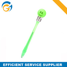Ball Pen With Led Light,Smile Face Flashlight Novelty Ball Pen