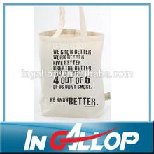 promotional cusotm tote muslin cotton beach bag