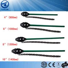 Llave de tubo de acero al carbono de tubo de la cadena de la cadena llave de tubo