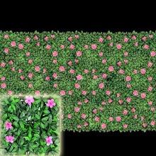Artificial box hedge wall plastic leaf hedge boxwood mat