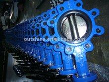 Bare shaft screw type butterfly valve dn250