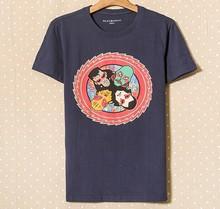 หนักผ้าฝ้าย100%เสื้อยืดที่มีการออกแบบการพิมพ์multicolour