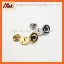 new fashion private custom brand logo round metal pin badge