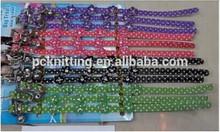 MOQ:600pcs PU 1.0*30cm Dot Pet Necklet Dog Collar Pet Collar for Cat and small Dogs