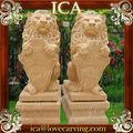 mão escultura leão grande jardim de mármore tamanho vida estátua de pedra animal
