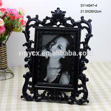 Black color elegant resin handmade photo frames designs