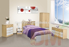 2014 Natural color Modern Children Wooden bedroom furniture bedroom sets