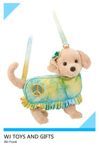 CE certificated nice dog toy plush bag for kids