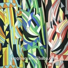 150cm 94gsm geometric thin soft printed polyester woven plain chiffon fabric