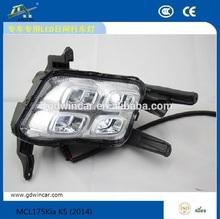12V Hot sale lamp daytime running led lights for Kia K5 (2014) Led Daytime Running Lights For Kia Led DRL Led car light