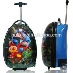 2015 school trolley bag backpack kids trolley hard case luggage