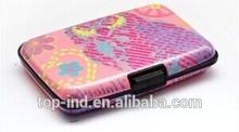 de aluminio a prueba de agua la mujer de colores de la tarjeta de crédito cartera de uso