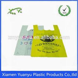 China Manufacture white custom printed plastic t shirt bags
