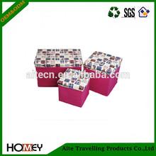 2014 hot sale new style printed rattan storage box