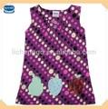 ( h855) roxo 3-8y atacado moda kids wear fornecedores de ouro para o vestido da menina de algodão sem mangas vestidos