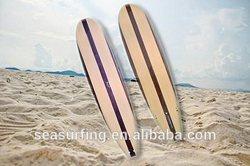 2014 bamboo design stripe rowing boat oars/ round nose fiberglass big size paddle board