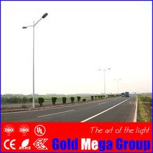 Double arm octagonal HDG street lighting pole