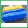 Eco-Friendly Cute colorful zipper silicone pencil bag ,pencil pouch