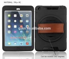 Leather hand strap TPU bumper case for iPad mini iPad mini 2