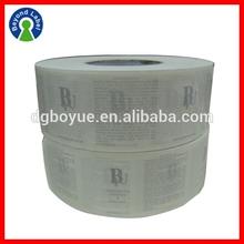 Fancy Waterproof Adhesive Transparent Vinyl Label,Custom Logo Printed Adhesive Perfume Bottle Sticker