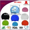 Wholesale Professional Customized Logo Printing Silicone Swim Cap