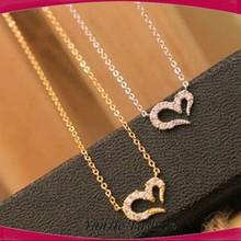 Wholesale best friend compact heart fashion necklace pendent