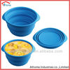 2014 Hot Sale Colorful Unbreakable reusable silicon foldable pet bowls