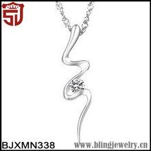Chinese Horoscope Golden Tone Snake Cobra Rhinestone Costume Pendant Necklace