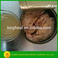 Lata de atún de embalaje 170g/185g en aceite vegetal/salmuera