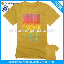 OEM Customized Cotton Woman Print T Shirts Popular Fashionable Wholesale