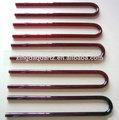 u forma de color rojo para el tubo de halógeno calentador de fibra de carbono de calefacción de cuarzo tubo de cristal