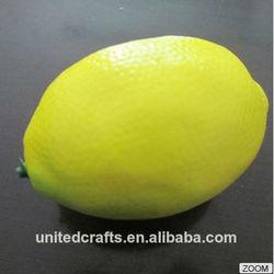 Hot selling Fake Artificial fruit Yellow Lemon