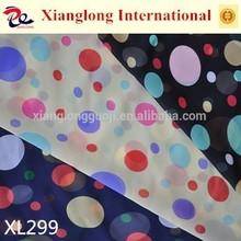 XL299 Cheap Free Sample Printed Chiffon Colorful Dot Design
