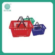 Hot Sale Shopping Baskets Hand Held Supermarket Plastic Baskets JS-SBN03