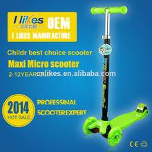 Mini Micro adjustable 3 wheels children kickboard push scooter