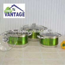 6 pieces double handle cookware set